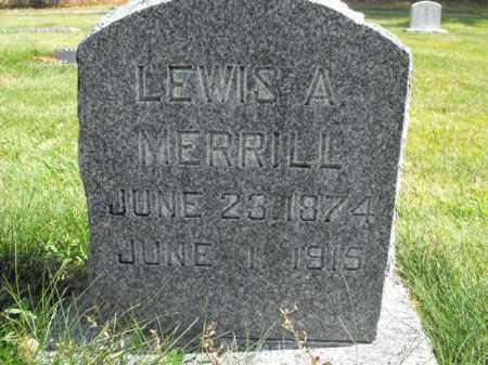 MERRILL, LEWIS - Cache County, Utah   LEWIS MERRILL - Utah Gravestone Photos