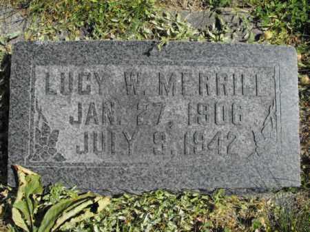 MERRILL, LUCY - Cache County, Utah | LUCY MERRILL - Utah Gravestone Photos
