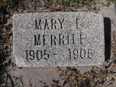 MERRILL, MARY - Cache County, Utah | MARY MERRILL - Utah Gravestone Photos