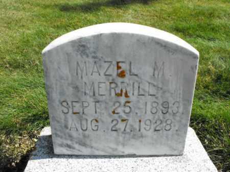 MERRILL, MAZEL - Cache County, Utah | MAZEL MERRILL - Utah Gravestone Photos