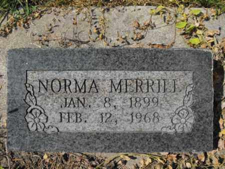 MERRILL, NORMA - Cache County, Utah | NORMA MERRILL - Utah Gravestone Photos