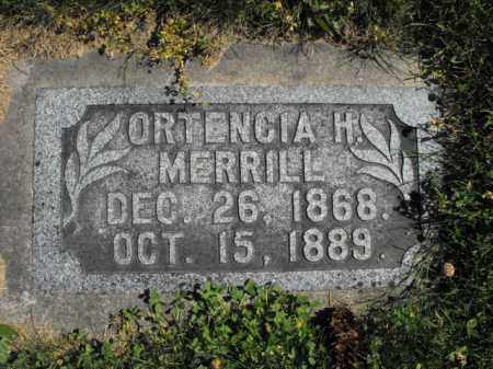MERRILL, ORTENCIA - Cache County, Utah   ORTENCIA MERRILL - Utah Gravestone Photos