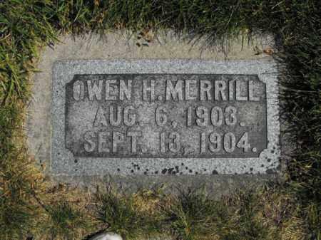MERRILL, OWEN - Cache County, Utah | OWEN MERRILL - Utah Gravestone Photos