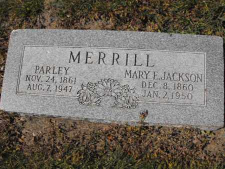JACKSON MERRILL, MARY - Cache County, Utah | MARY JACKSON MERRILL - Utah Gravestone Photos