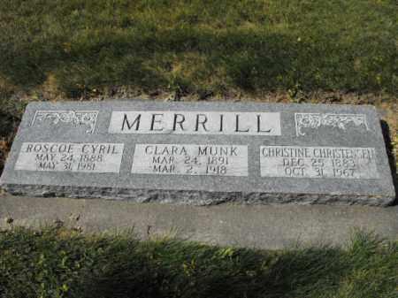 MUNK MERRILL, CLARA - Cache County, Utah | CLARA MUNK MERRILL - Utah Gravestone Photos