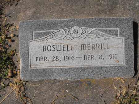 MERRILL, ROSWELL - Cache County, Utah   ROSWELL MERRILL - Utah Gravestone Photos