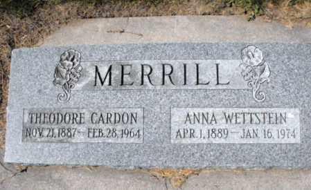 MERRILL, ANNA - Cache County, Utah | ANNA MERRILL - Utah Gravestone Photos