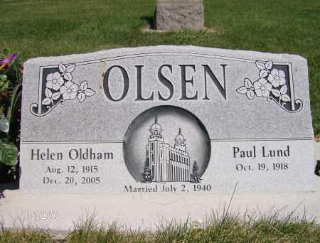 OLDHAM OLSEN, HELEN OBRAY - Cache County, Utah | HELEN OBRAY OLDHAM OLSEN - Utah Gravestone Photos