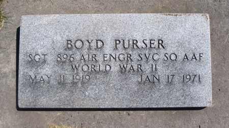 PURSER, BOYD - Cache County, Utah | BOYD PURSER - Utah Gravestone Photos