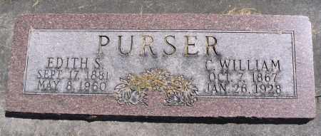 PURSER, C. WILLIAM - Cache County, Utah | C. WILLIAM PURSER - Utah Gravestone Photos