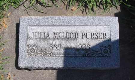 PURSER, JULIA - Cache County, Utah   JULIA PURSER - Utah Gravestone Photos