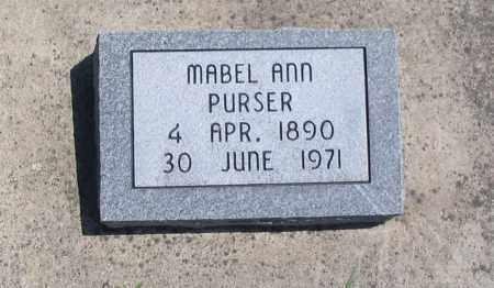 PURSER, MABEL ANN - Cache County, Utah   MABEL ANN PURSER - Utah Gravestone Photos