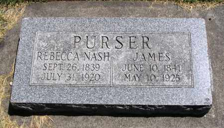 PURSER, JAMES - Cache County, Utah | JAMES PURSER - Utah Gravestone Photos