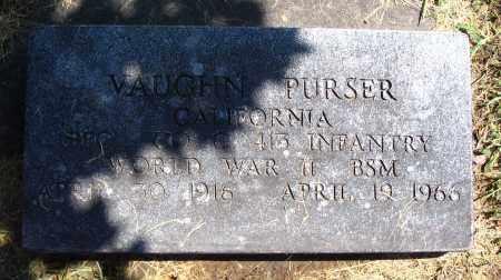 PURSER, VAUGHN - Cache County, Utah | VAUGHN PURSER - Utah Gravestone Photos