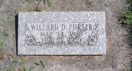 PURSER, WILLARD D. - Cache County, Utah | WILLARD D. PURSER - Utah Gravestone Photos