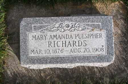 PULSIPHER RICHARDS, MARY AMANDA - Cache County, Utah | MARY AMANDA PULSIPHER RICHARDS - Utah Gravestone Photos