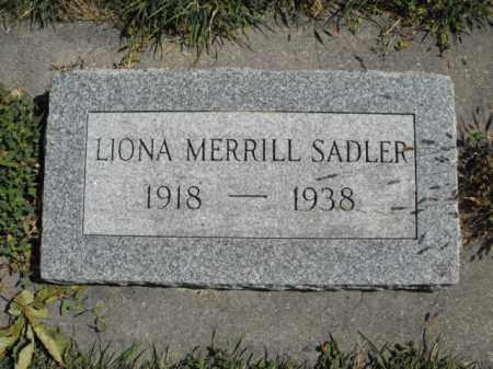 MERRILL, LIONA - Cache County, Utah   LIONA MERRILL - Utah Gravestone Photos