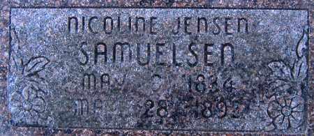 JENSDATTER SAMUELSEN, NICOLINE KRISTINE - Cache County, Utah | NICOLINE KRISTINE JENSDATTER SAMUELSEN - Utah Gravestone Photos