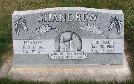 SHANDREW, JOHN JACK A. - Cache County, Utah | JOHN JACK A. SHANDREW - Utah Gravestone Photos