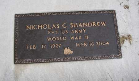 SHANDREW, NICHOLAS G. - Cache County, Utah | NICHOLAS G. SHANDREW - Utah Gravestone Photos