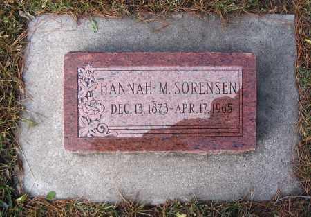 SORENSEN, HANNAH M. - Cache County, Utah   HANNAH M. SORENSEN - Utah Gravestone Photos