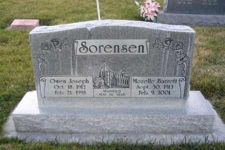 SORENSEN, OWEN JOSEPH - Cache County, Utah   OWEN JOSEPH SORENSEN - Utah Gravestone Photos