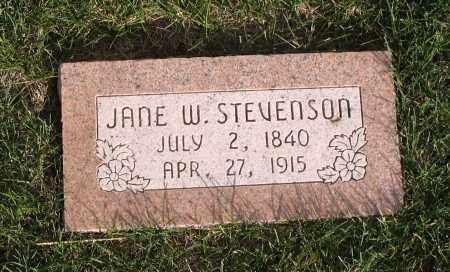 WICKHAM STEVENSON, JANE - Cache County, Utah | JANE WICKHAM STEVENSON - Utah Gravestone Photos