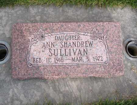 SHANDREW SULLIVAN, ANN - Cache County, Utah   ANN SHANDREW SULLIVAN - Utah Gravestone Photos