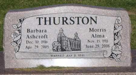 THURSTON, MORRIS ALMA - Cache County, Utah | MORRIS ALMA THURSTON - Utah Gravestone Photos