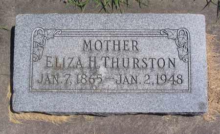 THURSTON, ELIZA H. - Cache County, Utah | ELIZA H. THURSTON - Utah Gravestone Photos