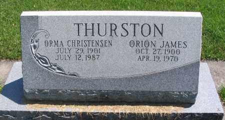 THURSTON, ORION JAMES - Cache County, Utah | ORION JAMES THURSTON - Utah Gravestone Photos
