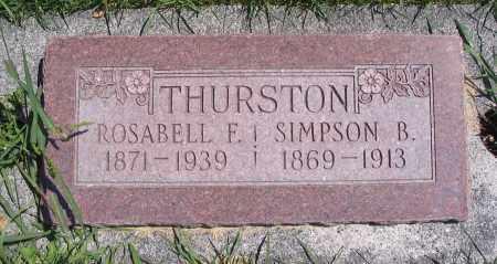THURSTON, ROSABELL F. - Cache County, Utah | ROSABELL F. THURSTON - Utah Gravestone Photos