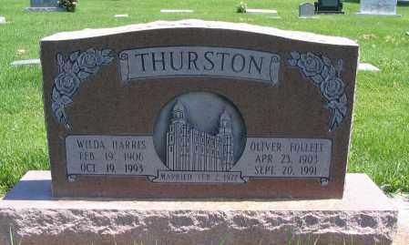 THURSTON, OLIVER FOLLETT - Cache County, Utah | OLIVER FOLLETT THURSTON - Utah Gravestone Photos