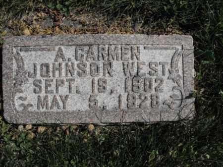 JOHNSON, A. CARMEN - Cache County, Utah | A. CARMEN JOHNSON - Utah Gravestone Photos