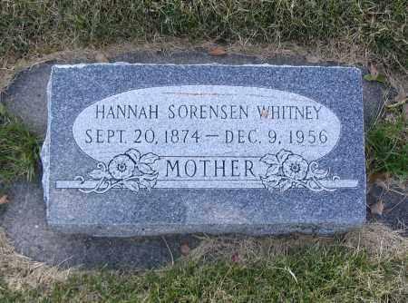 SORENSEN, HANNAH - Cache County, Utah | HANNAH SORENSEN - Utah Gravestone Photos