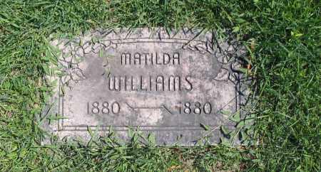 WILLIAMS, MATILDA - Cache County, Utah | MATILDA WILLIAMS - Utah Gravestone Photos