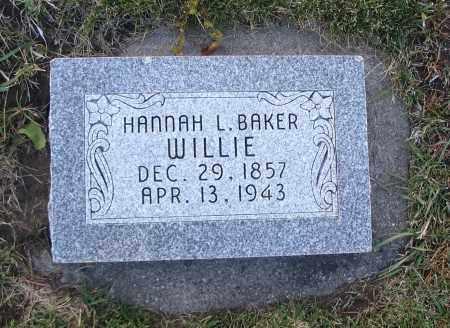 BAKER, HANNAH L. - Cache County, Utah | HANNAH L. BAKER - Utah Gravestone Photos