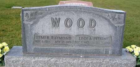 WOOD, ELMER RAYMOND - Cache County, Utah | ELMER RAYMOND WOOD - Utah Gravestone Photos