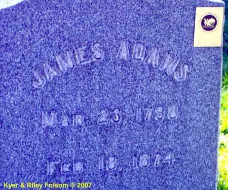 ADAMS, JAMES - Davis County, Utah | JAMES ADAMS - Utah Gravestone Photos