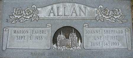 SHEPPARD ALLAN, JOANNE - Davis County, Utah | JOANNE SHEPPARD ALLAN - Utah Gravestone Photos