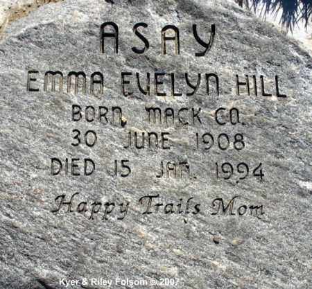 ASAY, EMMA EVELYN - Davis County, Utah | EMMA EVELYN ASAY - Utah Gravestone Photos