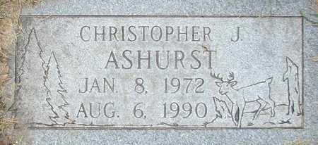 ASHURST, CHRISTOPHER J. - Davis County, Utah | CHRISTOPHER J. ASHURST - Utah Gravestone Photos