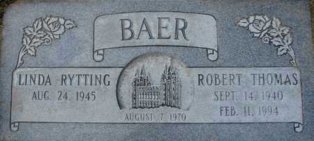 BAER, ROBERT THOMAS - Davis County, Utah | ROBERT THOMAS BAER - Utah Gravestone Photos
