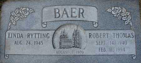 RYTTING BAER, LINDA - Davis County, Utah | LINDA RYTTING BAER - Utah Gravestone Photos