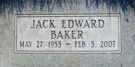 BAKER, JACK EDWARD - Davis County, Utah | JACK EDWARD BAKER - Utah Gravestone Photos