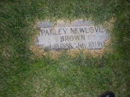 BROWN, PARLEY NEWLOVE - Davis County, Utah | PARLEY NEWLOVE BROWN - Utah Gravestone Photos