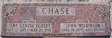 CHASE, JOHN WILKINSON - Davis County, Utah   JOHN WILKINSON CHASE - Utah Gravestone Photos