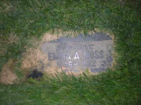MOSS, EMMA A - Davis County, Utah | EMMA A MOSS - Utah Gravestone Photos