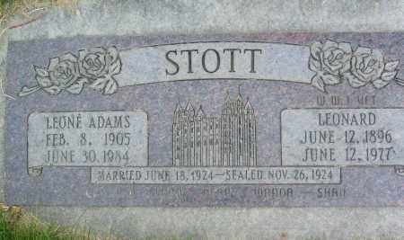 ADAMS (WWI), LEONARD - Davis County, Utah | LEONARD ADAMS (WWI) - Utah Gravestone Photos
