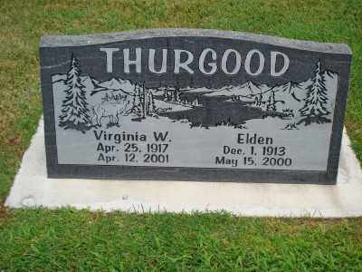 WILLIAMS THURGOOD, VIRGINIA - Davis County, Utah | VIRGINIA WILLIAMS THURGOOD - Utah Gravestone Photos